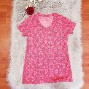 Be Inspired Pink Athletic Short Sleeve Shirt XS